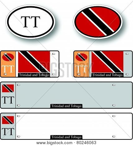 Trinidad And Tobago Auto Set