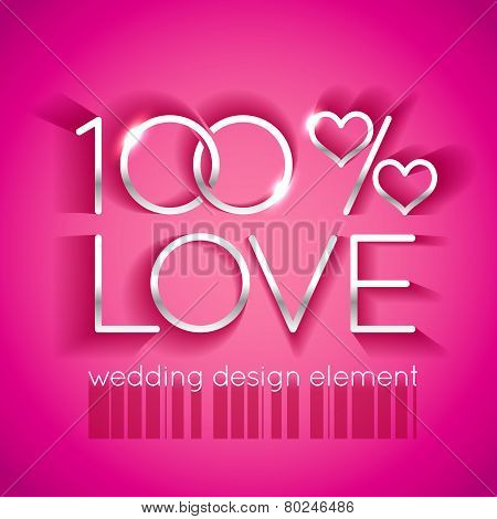 Bright pink wedding design element