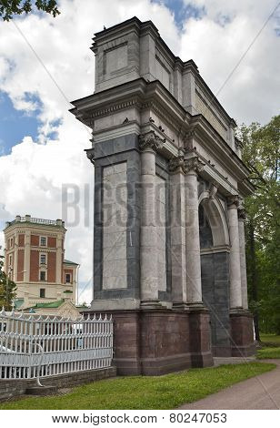 Pushkin . Catherine Park. Orlov (Gatchinskiye) Gate