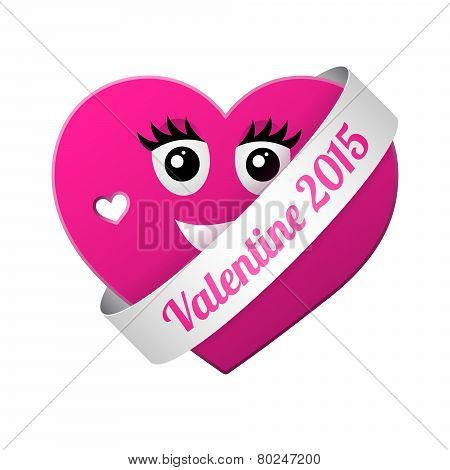 Vector Girl Valentine Heart