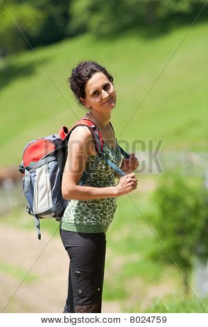 Young Lady Hiking