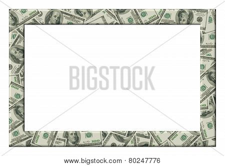 Dollars Frame. Isolated
