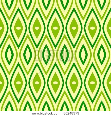 Stylish Green Retro Pattern