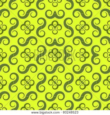 Spiral Monochromatic Pattern