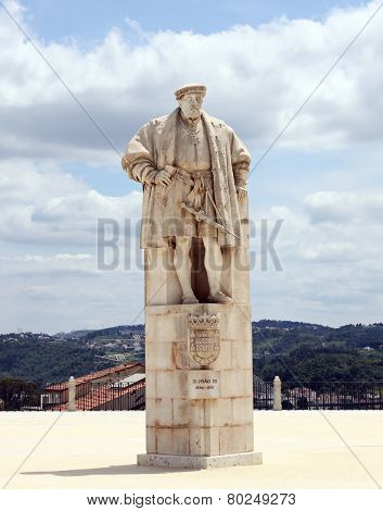 Monument To King Dinis Of Portugal