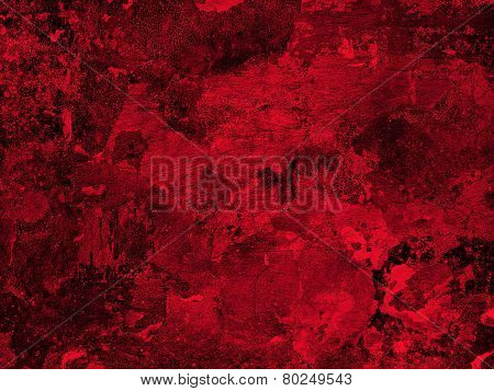 Old Red Plaster Wall Texture