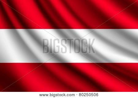 Waving flag of Austria, vector