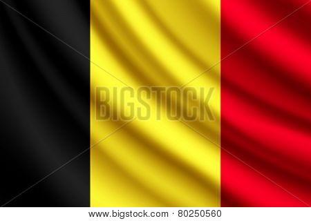 Waving flag of Belgium, vector