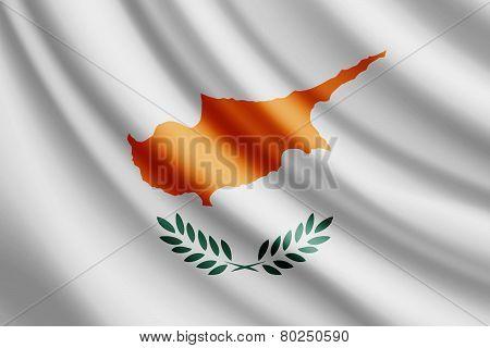 Waving flag of Cyprus, vector