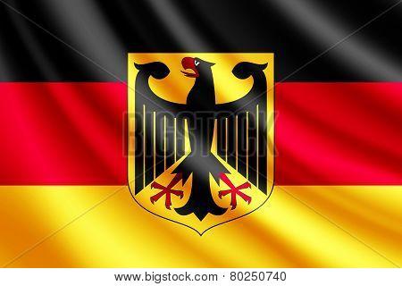 Waving flag of Germany, vector
