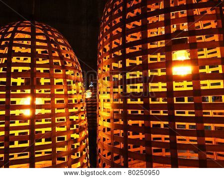 Lamps With Wicker Lampshades