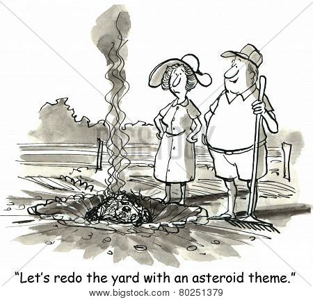 Asteroid Yard Theme