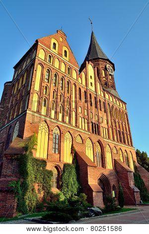 Koenigsberg Cathedral At Sunset. Kaliningrad (former Koenigsberg), Russia