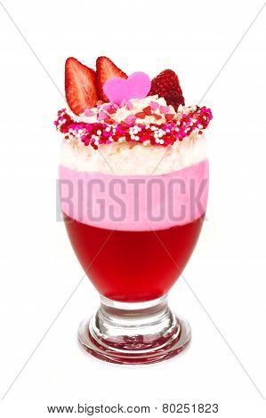 Valentines Day Strawberry Jelly Parfait