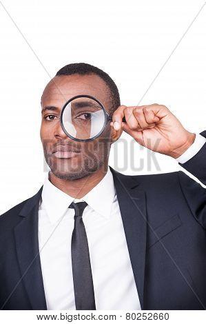 Businessman Examining You.