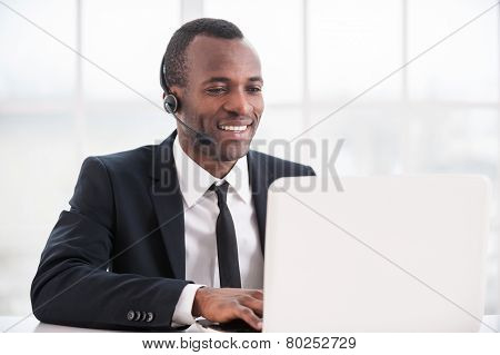 Customer Service Representative At Work.