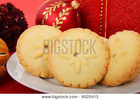 Mince Pies On Plate