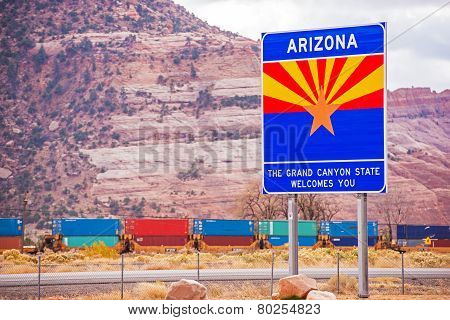 Arizona State Entrance Sign