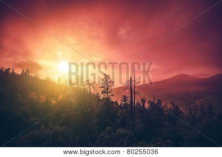 California Sunset Scenery