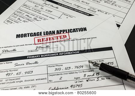 Mortgage Loan Application Rejected 009