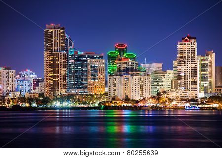 Colorful Skyline San Diego
