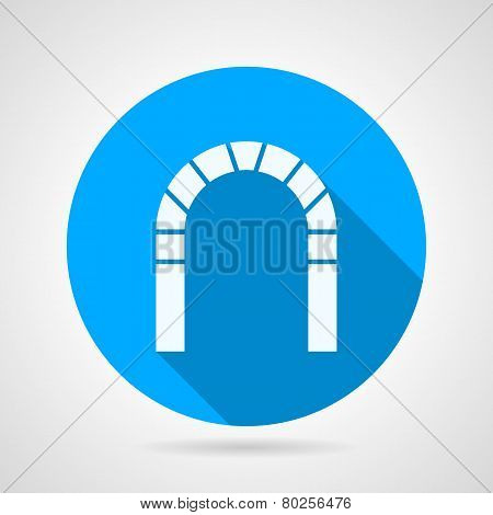 Flat vector icon for brick archway