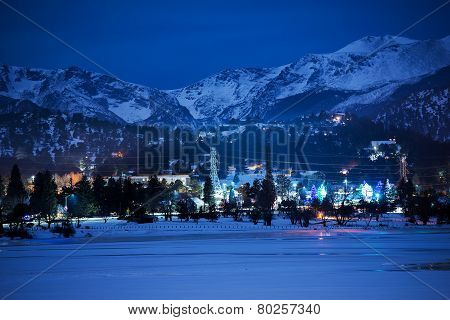 Winter Night In Estes Park