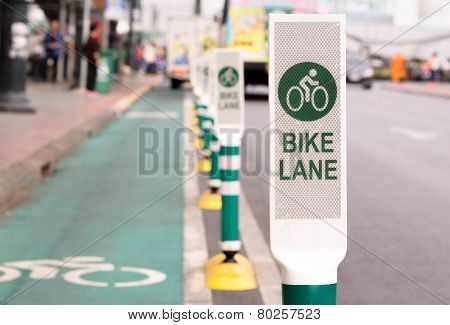 Bike lane in the city