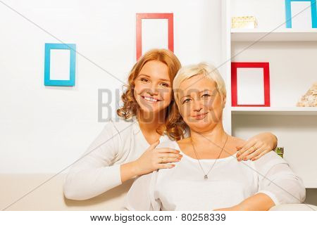 Adult daughter and her mother