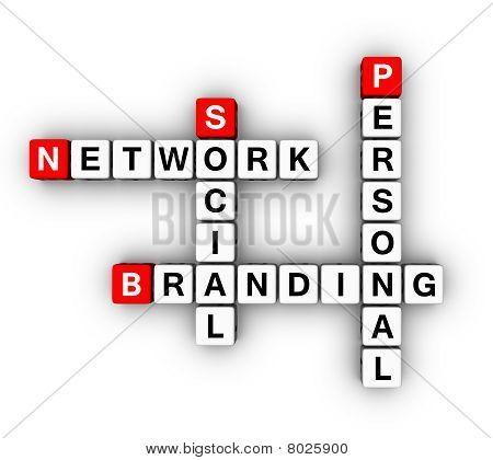 Persoonlijke brandmerken sociaal netwerk