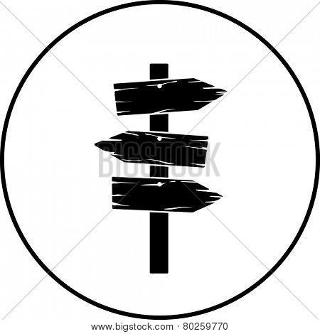 wooden arrow signs symbol