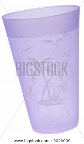 Purple Tropical Cup Of Seltzer Water