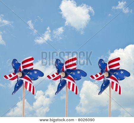 Patriotic American Pinwheel