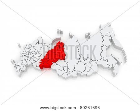 Urals Federal District. Russian Federation. Russia