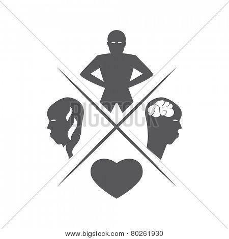 human vitality illustration