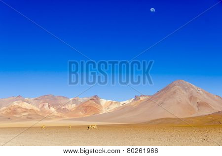 Mountains and Salvador Dali Desert in Eduardo Avaroa Andean Fauna National Reserve, Sur Lipez, Bolivia