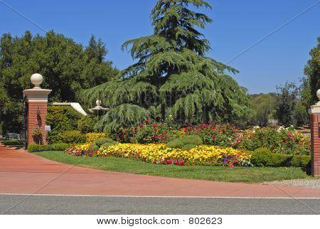 Flowerbed at Estate Entrance