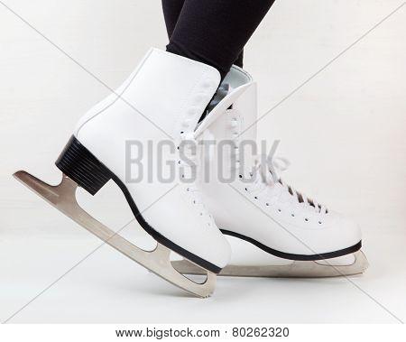 Detail of ice skates