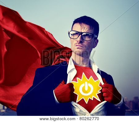 Power Strong Superhero Success Professional Empowerment Stock Concept
