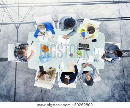 Brainstorming Planning Partnership Strategy Workstation Business Administratation Concept