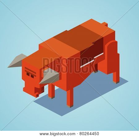 red bull. 3d flat isometric vector