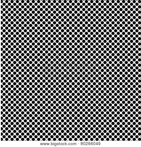 A fine polka dot texture- black and white vector pattern