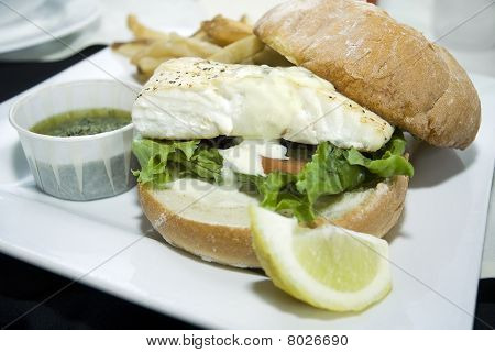 Juicy Gourmet Fish Burger