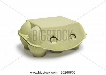 Closed Box Of Eggs