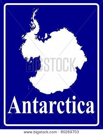 Silhouette Map Of Antarctica