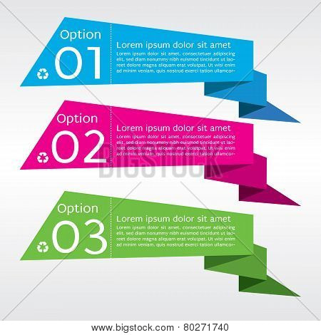Abstract Colorful Origami Banner Vector.