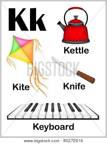 Alphabet Letter K Pictures