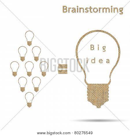 Burlap Big Idea Concept Brainstorming