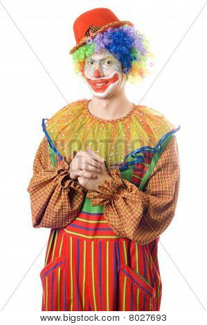 Portrait Of A Smirking Clown