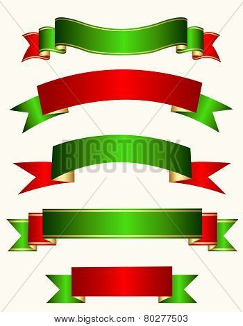 Ribbon Banner Christmas